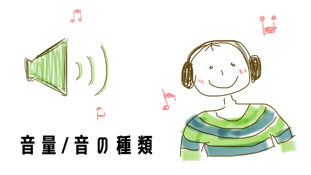 メトロノームの音量/音の種類